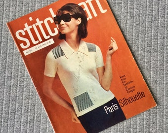 Stitchcraft Knitting Book #379 1960s 1970s Knitwear Instructions