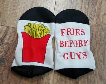 Fries Before Guys Short Socks