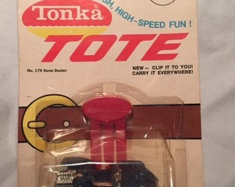 Vintage Tonka, brand new in package tonka tote- little tonka dune duster with belt clip