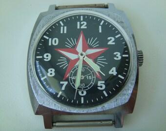 Pobeda watch, vintage watch, soviet watch, ussr watch, military watch, mens watch, russian watch, wrist watch, retro watch