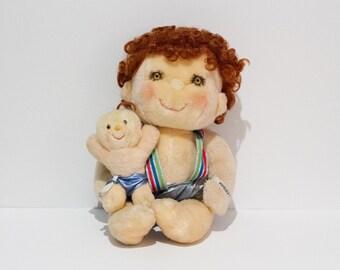 "Vintage - 1985 - Original Hugga Bunch Doll ""Hugsy"" - Complete with Hugglet Baby (Kenner)"