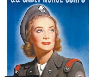 Plates Vintage, vintage prints, Army, War, Nurse, wall art, high quality digital printing, decoration, digital prints, Dibond