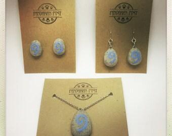 World of Warcraft Handmade Hearthstone Jewelry - Necklace, Post Earrings, or Dangle Earrings