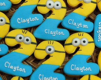 Minion Age Cookies Party Favors One Dozen