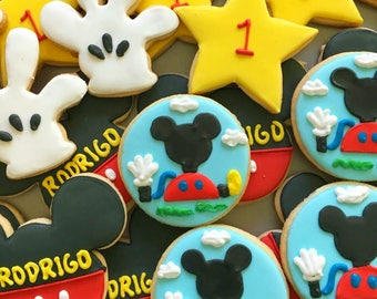 One dozen Mickey Mouse Club House Cookies