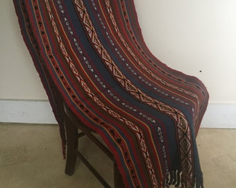 Peruvian Hand Crafted One Of A Kind Shawl