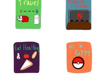 Andrew's doodle stickers
