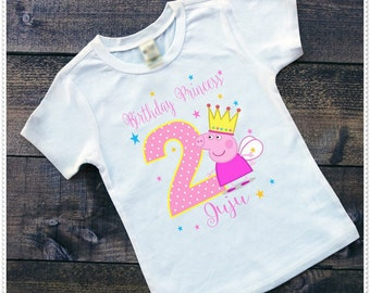 Peppa Pig Bodysuit size 6-24 Month; Tee Size 2T and Up; FREE Personalization; Any Age
