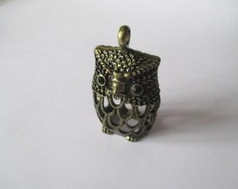 Gold/Antique Brass Owl Pendant