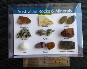 Australian Rocks and Minerals set