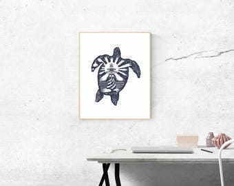 Turtle | Tattoo | Wall art | Printable | Ideal Gift| Housewarming | Office | Kids Room | living room | Instant download