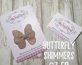 Butterfly bow hair clip