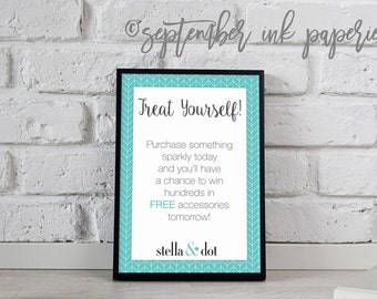 stella & dot Raffle Flyer
