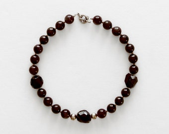 Amethyst necklace black onyx necklace black necklace february birthstone amethyst crystal purple crystal healing crystal gemstone necklace