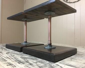 Copper Pipe Steam Punk Industrial Speaker Stands