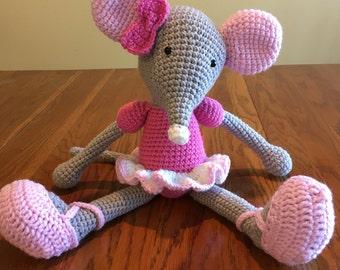 Ballerina mouse - crochet mouse - child's toy - pink ballerina - Easter gift
