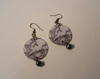 drop earrings, Japan