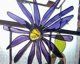 Unique Stained Glass Flowers for Vases