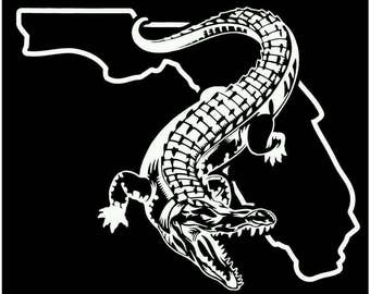 Florida gator gators fishing decal sticker vinyl