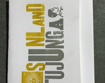 Sunland Tujunga Letterpress Greeting Card