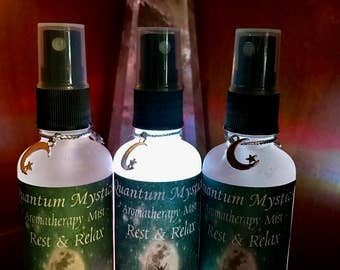 Aromatherapy Mist~ Rest & Relax, Pure Essential Oils, Amethyst Stone