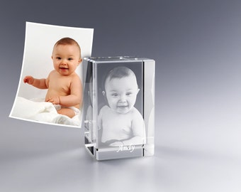 3D Personalized Laser Cubes Just Supply the Image and we'll do the rest