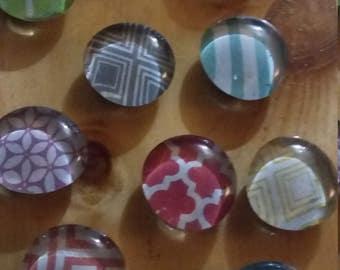 Glass Gem Magnet Set
