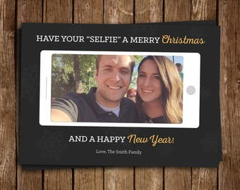 Have Your SELFIE A Merry Christmas Card - DIY Printable
