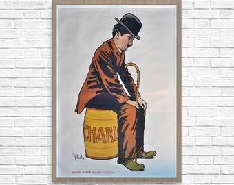 Charlot. Charlie Chaplin Poster, Charlot French Movie 1917 Poster, Chaplin Movie Poster, Vintage Movie Wall Art