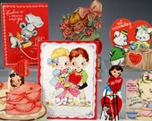 7 Vintage VALENTINE Cooking & Mother Cards Lot READY to SHIP