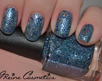 190 Octane - Blue Holographic Multicolored Glitter Nail Polish LIMITED EDITION