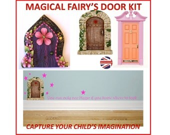 Wall sticker fairy door etsy uk for Fairy door wall art