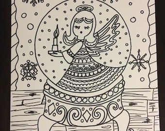 fox snow globe coloring pages - photo#38
