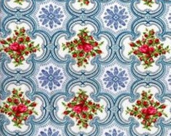 Cotton Fabric Quilting Anna Griffin Roses