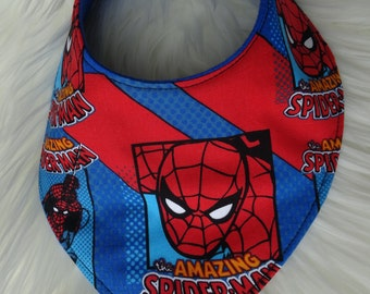 Spiderman dribble and drool bib for babies and toddlers