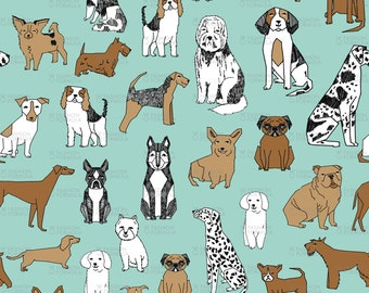 Dogs (Colour) Fabric by andrea_lauren