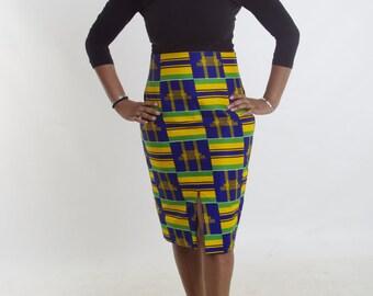 Discount Ankara Skirt, Straight Skirt Wax African