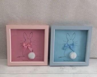 Blue 'some bunny loves me' frame