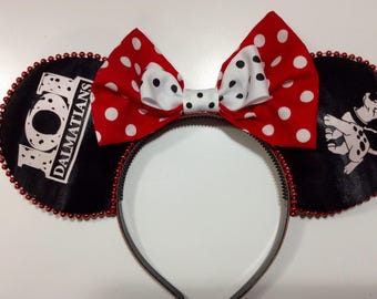 101 Dalmations Mickey Ears, Mickey Ears, Disney Ears, Minnie Mouse Ears, Cruella Deville Ears