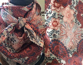Neutral Paisley/Floral
