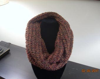 "Cowl neck scarf in ""fallen leaves"" color"