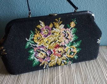 Vintage Jana carpet bag, vintage hand bag, vintage travel case, vintage carpet bag, jana