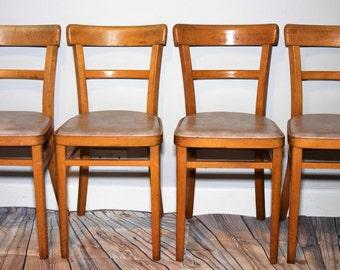 Set of Four Ben Chairs Vintage Retro Mid Century