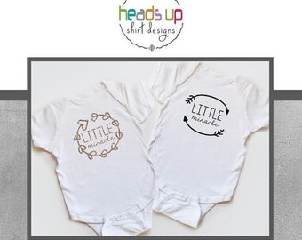 Boy/Girl Twin Onesies - Little Miracle Onesies Boy/Girl Twins - Gifts for Twins - Coordinating - Matching Shirts - Trendy Onesies - Tees