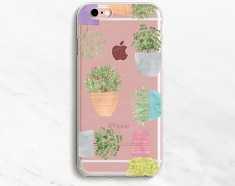 Plant iPhone 7 Case Clear iPhone 6 Plus Case Clear Phone Case Clear iPhone 6 Case Clear iPhone 5s Case
