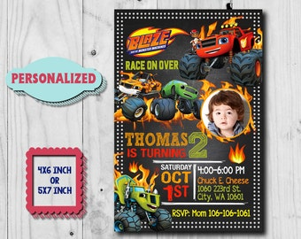 Blaze Invitation / Blaze and The Monster Machines Invitation / Blaze Birthday Invitation / Blaze Party / Blaze Birthday / Blaze Invite