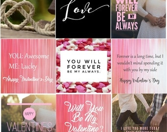 10 Valentine's Day Instagram Posts - Save time & energy while building your brand! Social Media Posts