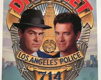 Dragnet (1987) - Dan Aykroyd - Tom Hanks - Two-sided Promotional Flat