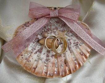 Sea Shell Ring Bearer READY TO SHIP Wedding Ring Pillow Starfish Ring holder Beach Wedding