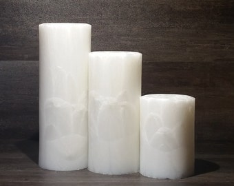 CocoPalm Pillars - Crystal, Home Decor Candle